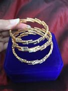 Rare Gorgeous Egyptian Authentic Stamped 21 K Solid Yellow White Gold Bracelet