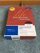 Niv Life Application Study Bible Burgundy Leather Red Letter 1984 Text Cd