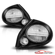 For 2002 2003 Nissan Maxima Black Rear Brake Tail Lights Lamps Pair