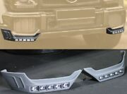 For Mercedes Benz W463 G Class G63 Front Splitters Add-on With Led Drl M-style