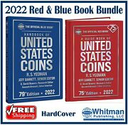 New 2022 Red Book Price Guide For Us Coins + Blue Book Hardcover Deal Bundle Set