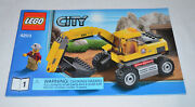 Lego City 4203 1 Excavator Instruction Manual Booklet Only