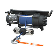 New Oem Polaris Pro Hd 4500 Lb. Winch With Rapid Rope Recovery And Synthetic Rope