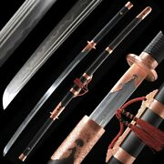 Sharp Miaodao Chopping Horse Saber Battle Sword Pattern Steel Clay Tempered1001