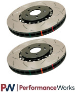 Dba 52314blks X2 Front Slotted 5000 2 Piece Rotor Pair Fits Nissan / Infiniti