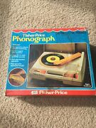Vintage Fisher Price Phonograph 825 Record Player 1979 Toy Original Box Tested