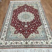 Yilong 5and039x8and039 Square Oriental Handmade Turkish Silk Carpet Hand Knotted Rugs W17b