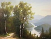Ron Williams Knoxville Artist Original Oil Landscape Pathway At Fontana Lake