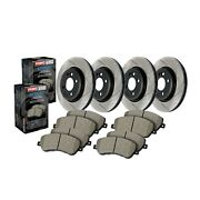 Stoptech Disc Brake Pad And Rotor Kit Front-rear For 12-17 Audi S5 / 11-16 S4
