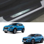Oem Parts Stainless Door Scuff Sill Trim 4pcs For Hyundai Tucson 20162019+