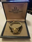 Vintage Omega 18k 750 Solid Yellow Gold 17 Jewels Ladies Watch