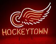 New Detroit Red Wings Hockey Town Lamp Bar Beer Neon Light Sign 24x20