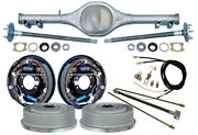 Currie 62-67 X-body Mono-leaf Rear End And 11 Drum Brakeslinese- Cablesaxles