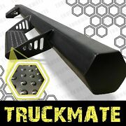 Hex Style Blk Running Boards Side Step Nurf Bar Fit 05-21 Toyota Tacoma Crew Cab