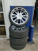4 Used Rims/wheels And 4 Tires For Chrysler/dodge - Tire Size 2653522 Nexen