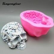 Skull Pattern Silicone Mold Fondant Cake 3d Plaster Chocolate Candle Halloween