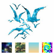 Flock Of Seagulls Birds - Decal Sticker - Multiple Patterns And Sizes - Ebn1768