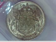 1941 Canadian Silver Half Dollar50 Cent Coin Near Date Iccs Ms 63