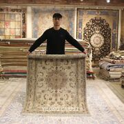 Clearance Yilong 4and039x6and039 Classic Handmade Wool Rug Hand-knotted Home Carpets 2044