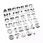 Chrome Quality 3d Self-adhesive Letter Number Car Badge Sticker For Home And Auto.