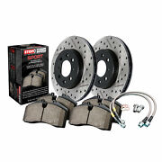 Stoptech Disc Brake Pad And Rotor Sport Kit Front For 10-17 Infiniti G37 Q70 Q60