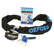 Oxford Nemesis 16mm Ultra Strong Chain And Padlock 1.2m Long Of330 Ride Best Buy