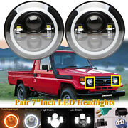 7 Halo Led Head Lights Lamps Cree Conversion Set For Toyota Pickup 93 91 82-89