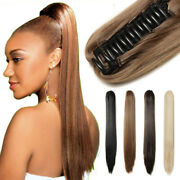 Long 15-28inch Claw Jaw Clip Human Hair Ponytail 100 Human Remy Hair Extension