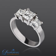 Ladies Diamond Engagement Ring D Si Accented Solitaire 1.90 Ct Princess Cut