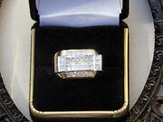 Distinguished Men's 14k Yellow Gold And 3.0ctw Diamond Size 11.5 Handsome Ring
