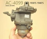 Ac-4099 Unknown 1930and039s Old Fuel Pump Dual Diaphragm Dual Action 1940and039s Antique