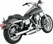 Python Mamba 3 Slip-ons Exhaust Mufflers Chrome For 91-16 Fxd 93-08 Fxdwg