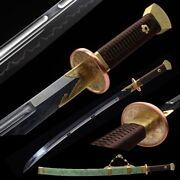 Sharp Yanling Sword Autumn Waters Wild Goose Plume Knife Clay Tempered秋水雁翎刀1083