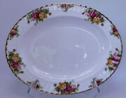 Royal Doulton Royal Albert Old Country Roses England 1962 Oval Platter 13 5/8andnbsp
