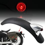 Motorcycle Rear Retro Metal Fender Mudguard+taillight Red Lamp For Harley Bobber
