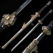 Exorcise Evil Sword Hand Forged Pattern Steel Blade Clay Tempered Sharp 1089