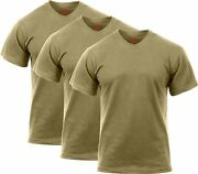 3 Pack - Coyote Brown Official Ar 670-1 Us Army Solid Military T-shirt