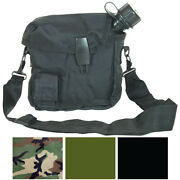 2 Quart Bladder Nylon Canteen Cover And Carry Strap Military Army Camo Camping