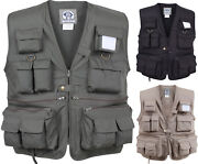 Uncle Milty 17 Pocket Travelers Fishing And Photography Hunting Camping Vest