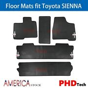 Prime Quality All Weather Rubber Slush Floor Mats Fit Sienna 2013-2017