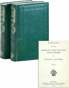 Nathaniel Hawthorne Passages From The French And Italian Note-books 1st Ed 1872