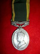 Efficiency Medal, Scroll Canada, George Vi, To The Algonquin Regiment