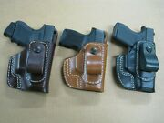 Usa Appendix In The Waistband Iwb Leather Belt Loop Holster Ccw Choose Gun - 4