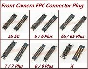 Lot Oem Front Camera Fpc Connector Plug Logic Board For Iphone 5 6 6s 7 8 Plus X
