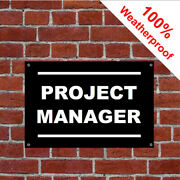 Project Manager With Left Arrow Sign 5038wbk Extremely Durable And Weatherproof