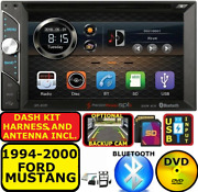 1994-2000 Ford Mustang Bluetooth Touchscreen Usb Aux Sd Car Radio Stereo Package