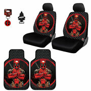 For Toyota New Deadpool Car Truck Seat Cover Floor Mat Keychain Set Free Gift