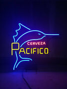 New Cerveza Pacifico Swordfish Neon Light Sign 24x20 Lamp Poster Real Glass