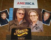 America Autographed Photo And Photos -rpand 50th Anniversary Logo Real Collectible