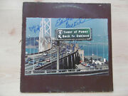 Tower Of Power Autogramme Signed Lp-cover Back To Oakland Vinyl